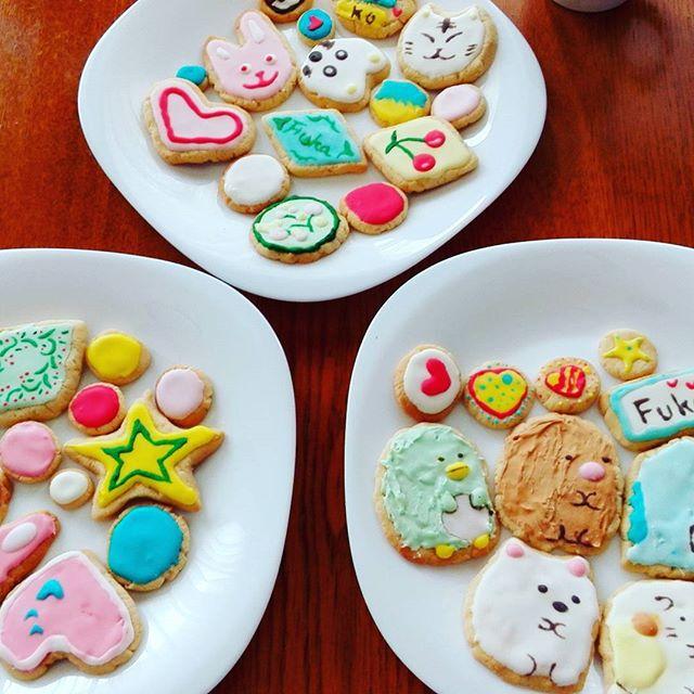 初チャレンジのアイシングクッキー