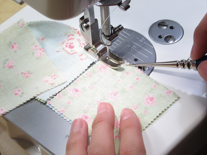 春待ちFleursミニキルト-縫い合わせの時短ワザ